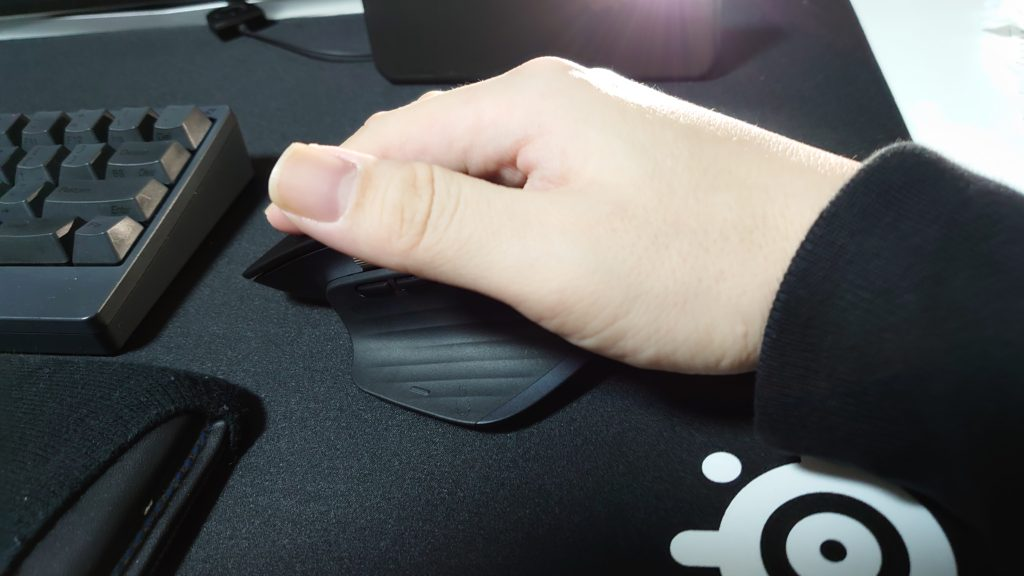 mouse with a hand